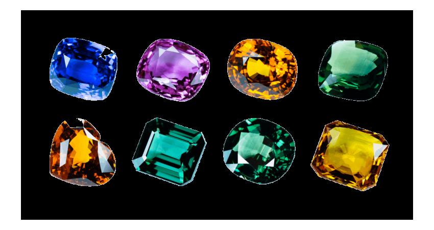 Minerals - Precious Stones - Gems & Jewellery Cluster
